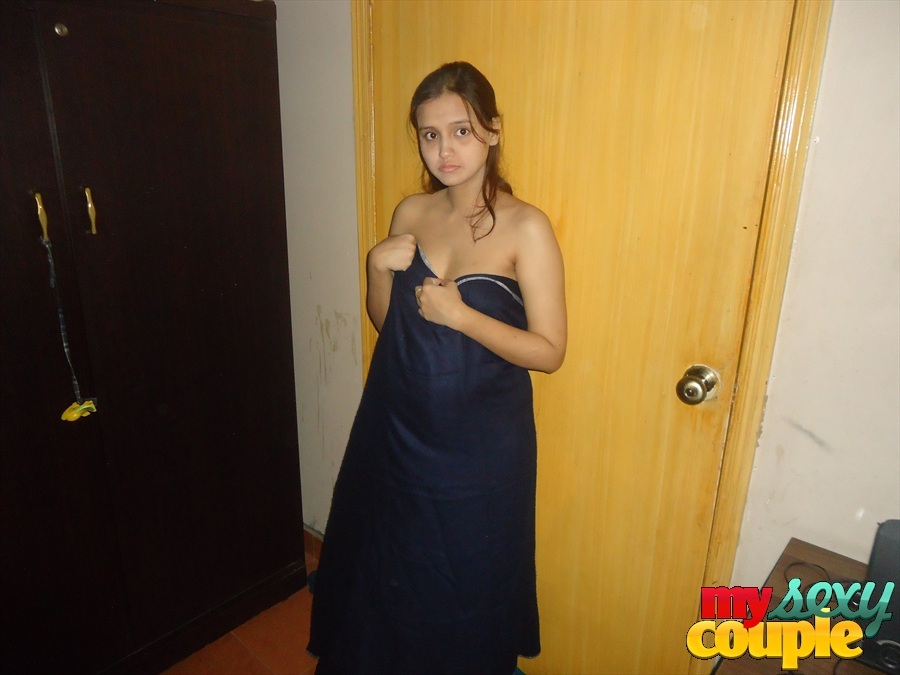 Pretty Indian Wife Forced to get Naked for Self Shots  (1/12)