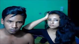 Young Indian Couple Shares Passion in Bed