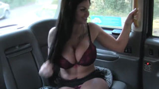 Busty Bitch From TV Wants Drivers Tongue In Her Wet Pussy
