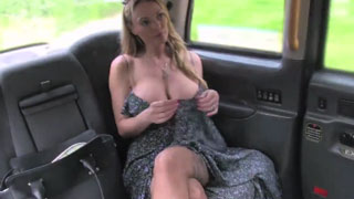 British Milf with Huge Tits is Giving a Titjob