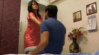 Indian Student and His Hot Teacher Finish Together at the End
