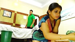 Beautiful Desi Milf Cleans Before Sex