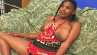 Mature Ebony With Indian Roots Gets Two Cocks
