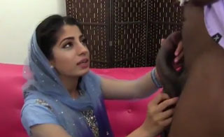 Nadia Ali Tries Black Cock and Balls For the First Time