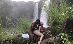 An Interracial Couple Enjoying Their Time in the Wild