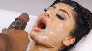 Indian Doll Get Extra Cream on Beauty Face During Massage