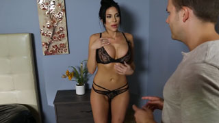Hot MILF Blackmail to Call His Mom If He Doesn't want a Fuck Her