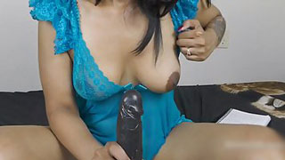 Blue Sexy Dress Mallu is Demonstrating Her Footjob Skills