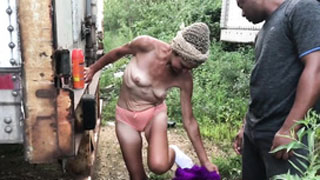 Holly Fuck!! Skinny Granny Accepts to Fuck for Money