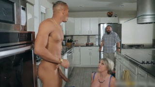 Short Haired Cheating Wife Getting Nailed in the Kitchen