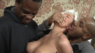 Busty Housewife Abused by 2 Blackzilla