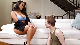 Busty Mom Surprised Hornny Endowed Step-Son